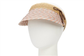 Wholesale Tweed Straw Sun Visor Hats