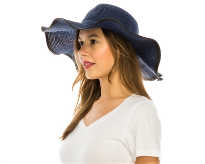 Wholesale Sun Hats - Wavy Brim