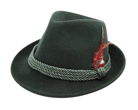 Wholesale Octoberfest Hats - Wool Felt Fedora