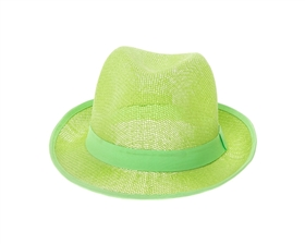 wholesale 4 dollar straw mesh summer fedora hat