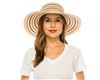 wholesale striped hats - packable nautical sun hat