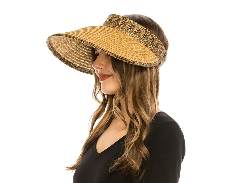 3a0bd57a60f9a Sun Hats Wholesale - Tribal Pattern Sun Visor