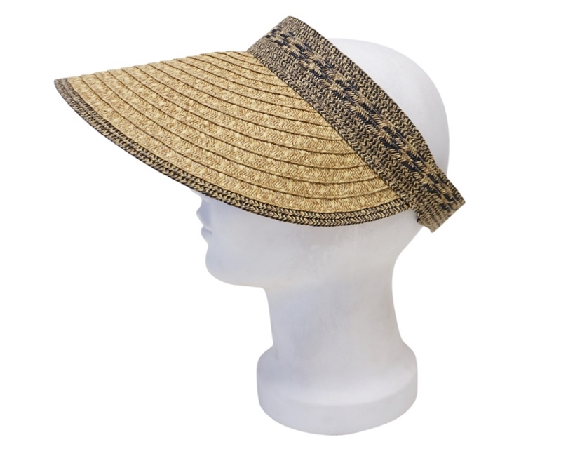 1dd39b3b42516 SKU  746-3. Oversized mixed straw braid sun visor ...