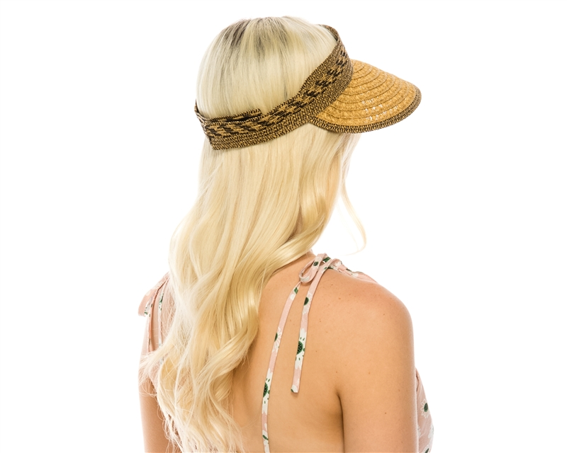 96e44220327dc Currently Sold Out! Accepting Backorders! SKU  746-4. Women s sun visor in mixed  straw braid ...