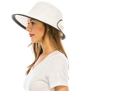wholesale womens hats - sun hat with contrast bow