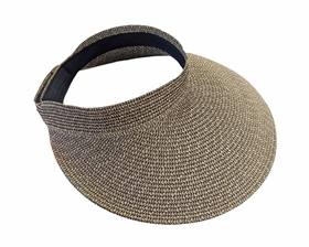 wholesale large sun visor ladies hats natural trim
