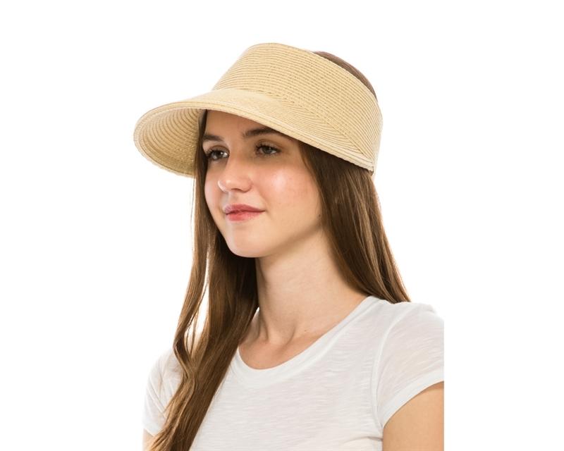 da44e242648 SKU  764. Crownless straw sun visor hats ...