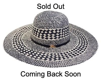 69f5352c Wholesale Wide Brim Straw Sun Hats - Handwoven Two-Tone Floppy ...