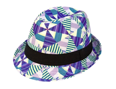 wholesale geometric patterned fedora hat