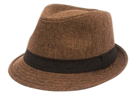 wholesale summer linen fedora hat