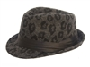 wholesale fashion fedora hats - furry leopard print fedoras