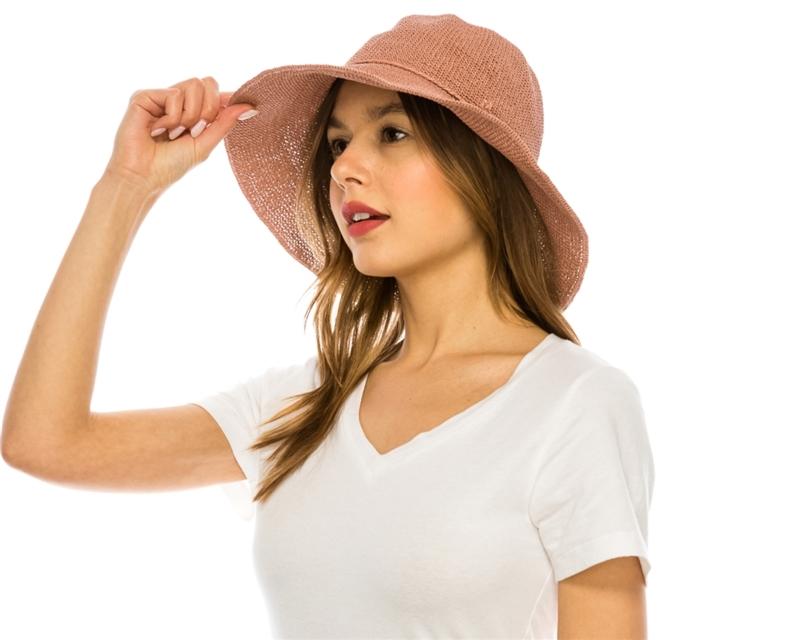 Wholesale Straw Bucket Hats - Womens Turn Up Brim 5115ba8226c0