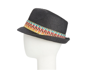 wholesale straw fedora hat tribal band