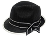 bulk black hats - wholesale dress hats - straw fedora hats - black church fedoras