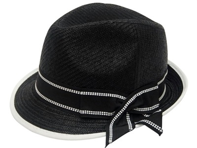 Bulk Dress Hats - Black Straw Fedora Hats - Wholesale Church Hats 9921989dd8cc