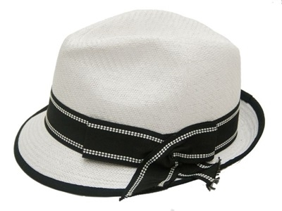 bulk white hats - wholesale dress hats - straw fedora hats - white church fedoras