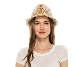 wholesale straw fedora hat watercolor flowers