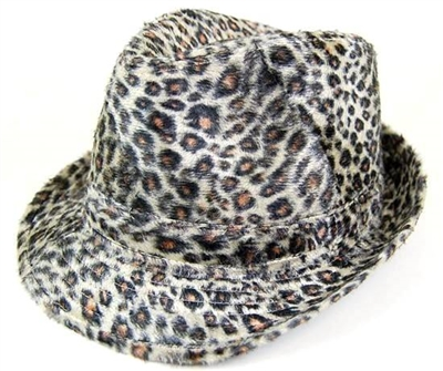wholesale leopard fedora hats