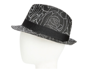 wholesale church hats sinamay fedora hats rose print