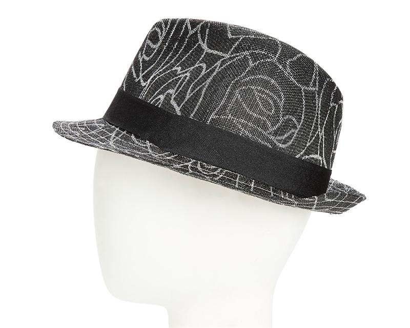 65b9d6fa wholesale church hats sinamay fedora hats rose print