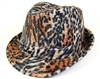 wholesale furry animal print fedora