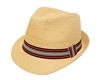wholesale earth tones straw fedora hats women men
