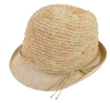 wholesale space dyed nubby knit fedora