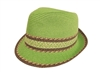 wholesale straw fedora hat - straw mixed braid trim