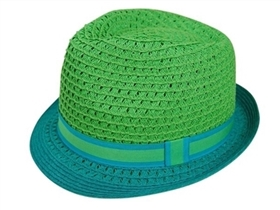 wholesale 2-tone summer straw fedora