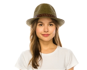 wholesale black hats - olive panama hats woven straw fedoras women men beach hat