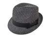wholesale straw fedora  open weave crown