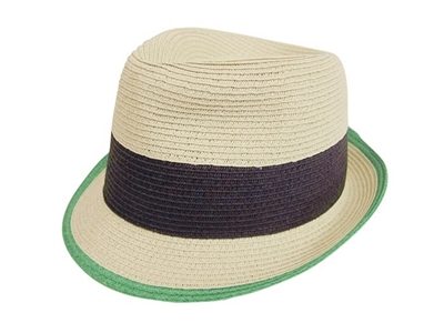 wholesale colorblock straw fedora
