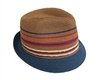 wholesale thin stripes straw fedora