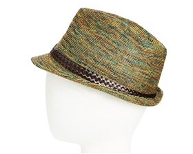 wholesale blended color knit fedora