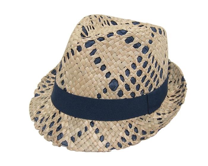 638a04942 7972 Men's Fedora Hats - Straw Overlay