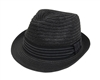 wholesale straw fedora  contrast stitch band