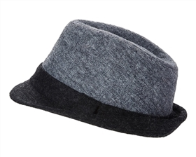 wholesale wool winter fedora hats colorblock