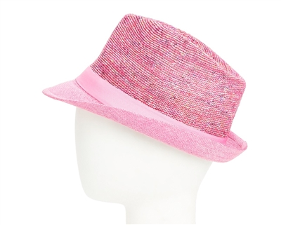 99d82ec7b2d30 7978-6 Marled Knitted Fedora with Solid Brim