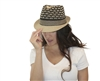 wholesale fashion straw fedora hats - honeycomb pattern wholesale ladies fedoras
