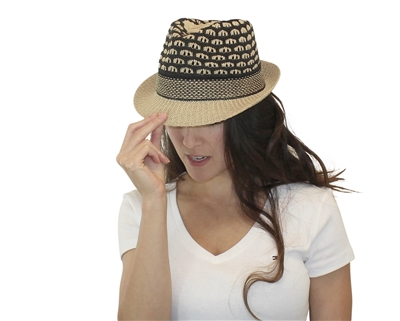 wholesale fashion straw fedora honeycomb pattern all seasons