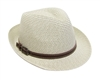 wholesale straw fedora hats tweed w buckle