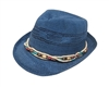 wholesale woven toyo fedora  multi bead band