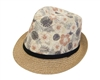 wholesale summer fedora  tropical flower print