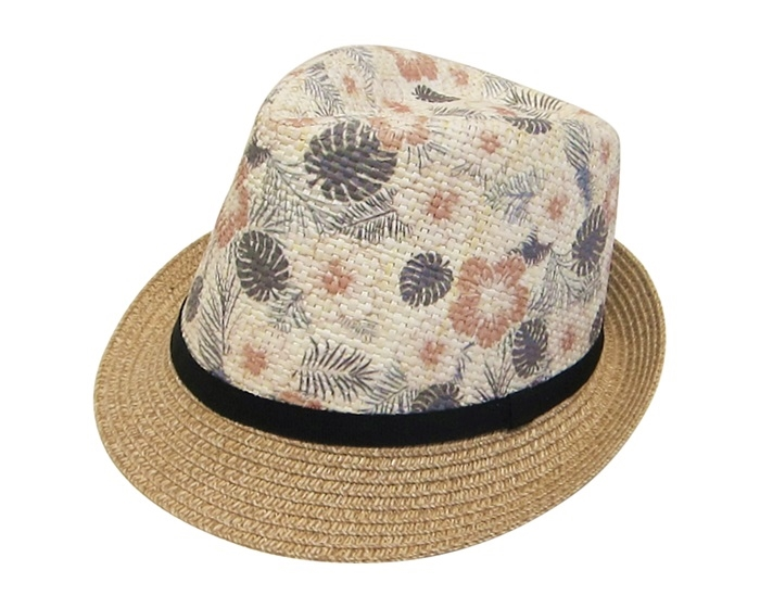 05450b9f51891 7989 Summer Fedora with Tropical Flower Print
