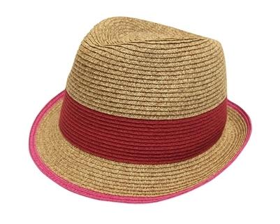 2b1fd8bc4ff Wholesale Beach Hats - Straw Fedora w  Colorblock Pattern