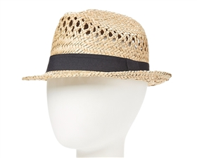 wholesale seagrass straw fedora hats - mens womens beach fedoras