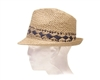 wholesale handwoven fedora  contrast pattern