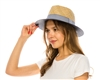 wholesale nautical seagrass panama hat