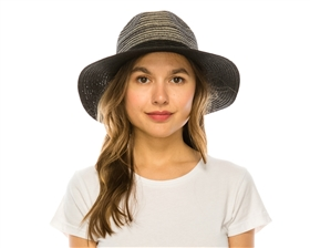 wholesale blended color straw panama hat