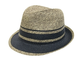 wholesale tweed and solid striped fedora